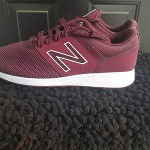 Burgundy New Balance 24 Sneaker - women's